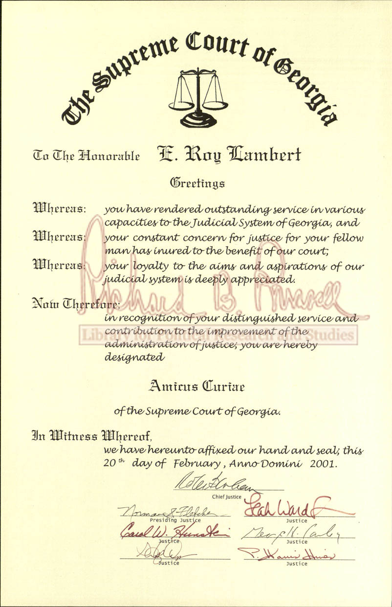 E roy lambert papers the supreme court of georgia amicus curiae certificate 2001 february 20 access online box folder request box aiddatafo Choice Image